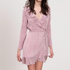 Lucy Paris Gemma Ruffle Wrap Dress